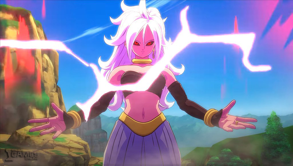 Android 21 with different powers and color changing ability
